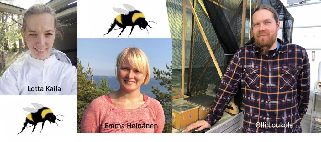 Kimalistiimi: Olli Loukola, Lotta Kaila ja Emma Heinänen.