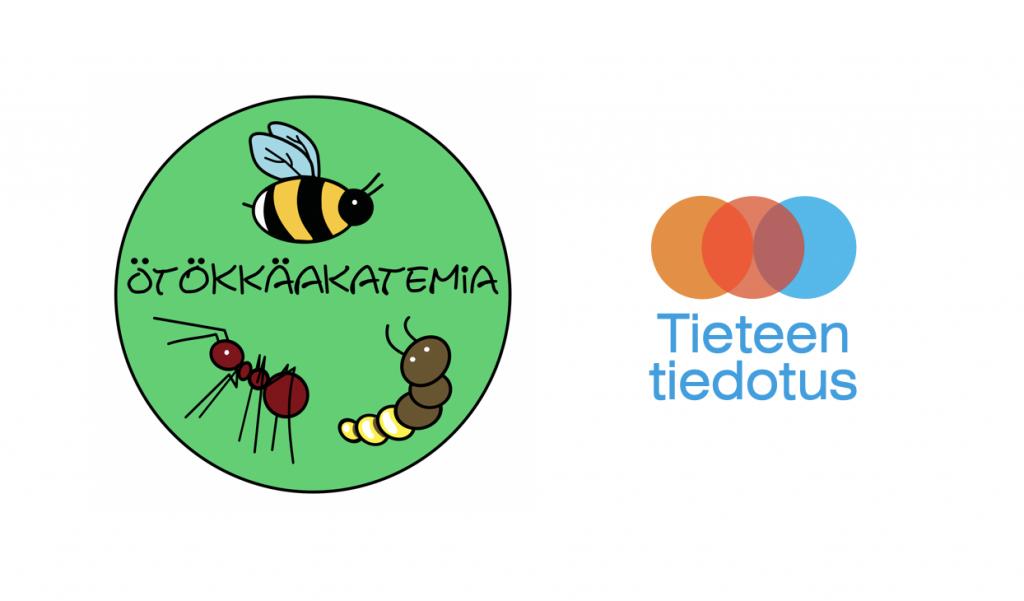 Ötökkäakatemian ja Tieteen tiedotuksen logot.